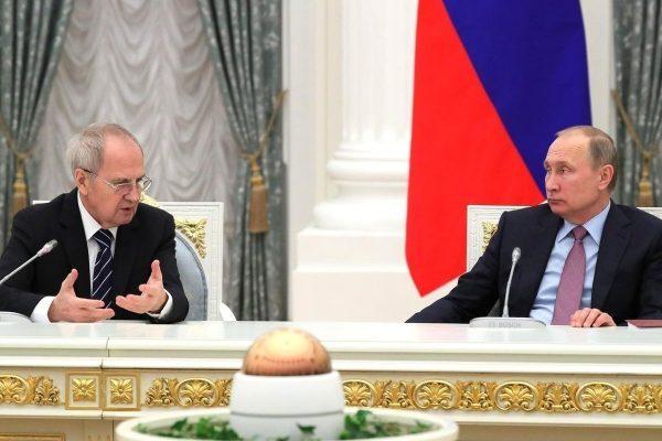 В.Путин и В.Зорькин - Президент и Председатель КС РФ