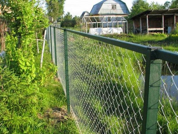 Как правило, дачные участки огораживают прозрачным забором