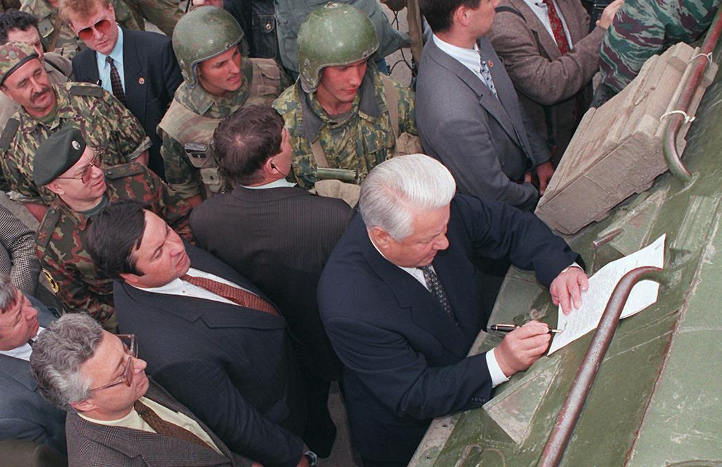 Одним из наиболее важных внешнеполитических вопросов для Ельцина был чеченский