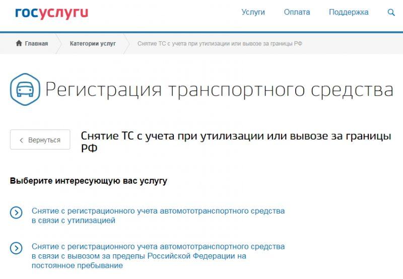 Регистрационные действия на Gosuslugi
