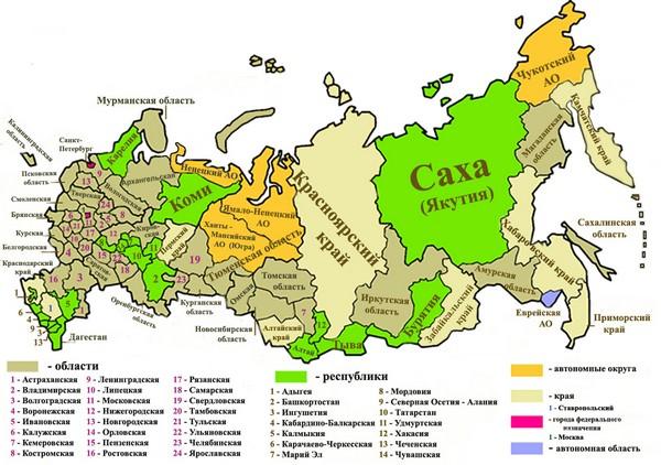Субъекты РФ имеют право на установление стоимости коммунальных услуг, выделение жилья гражданам и проч.