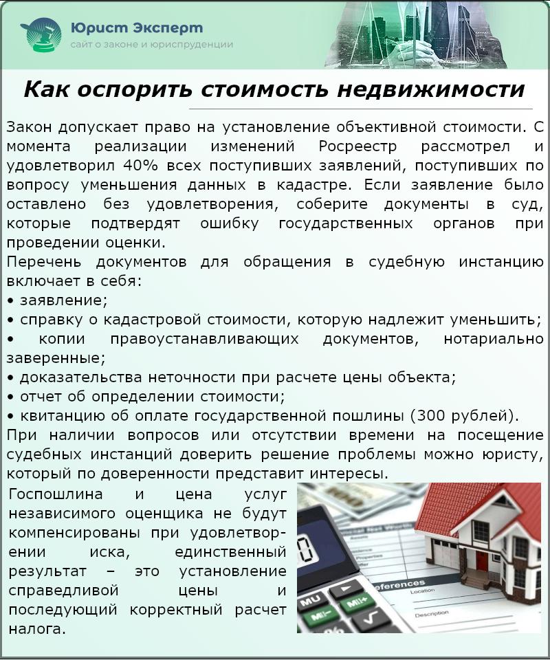 Как оспорить стоимость недвижимости