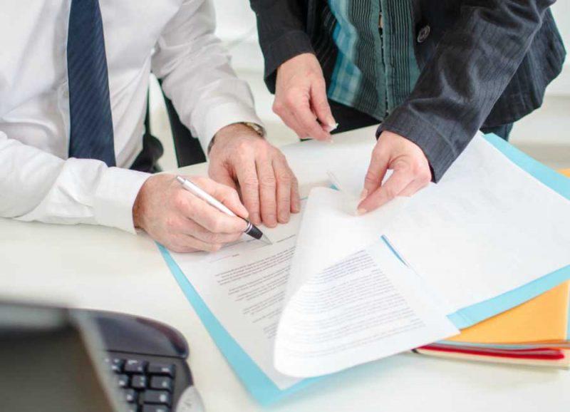 Подписание договора лизинга