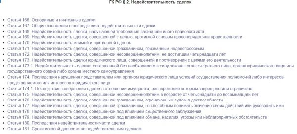 Параграф 2 ГК РФ