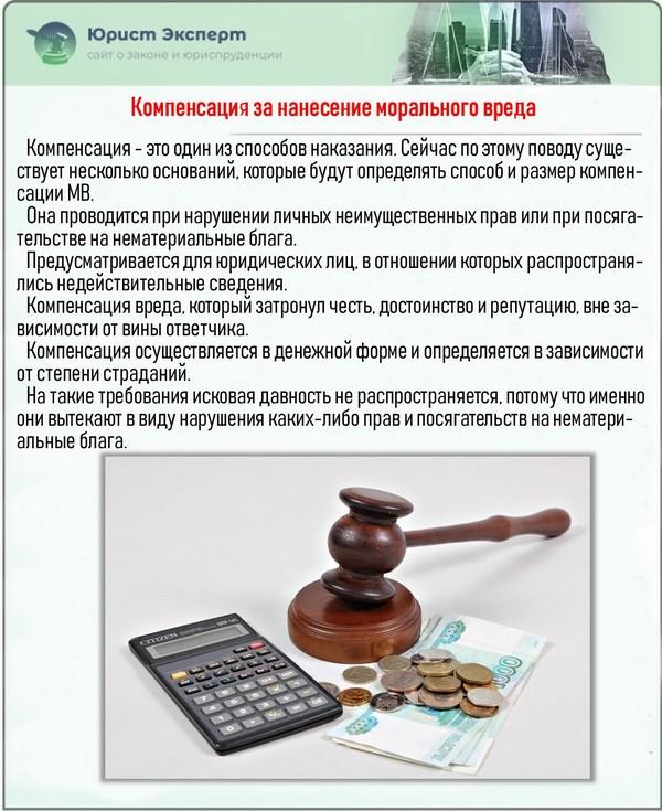 За нарушение прав положена компенсация