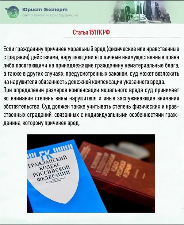 Статья 151 ГК РФ