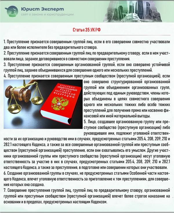 Статья 35 УК РФ