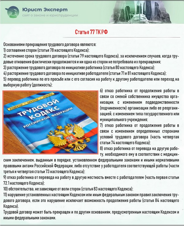 Статья 77 ТК РФ