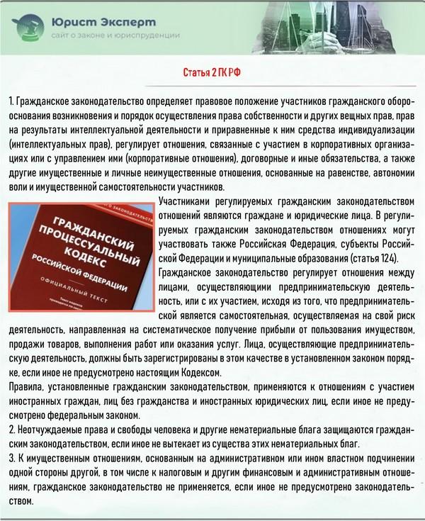 Статья 2 ГК РФ
