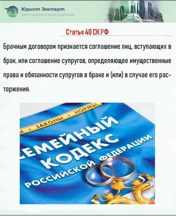 Статья 40 СК РФ