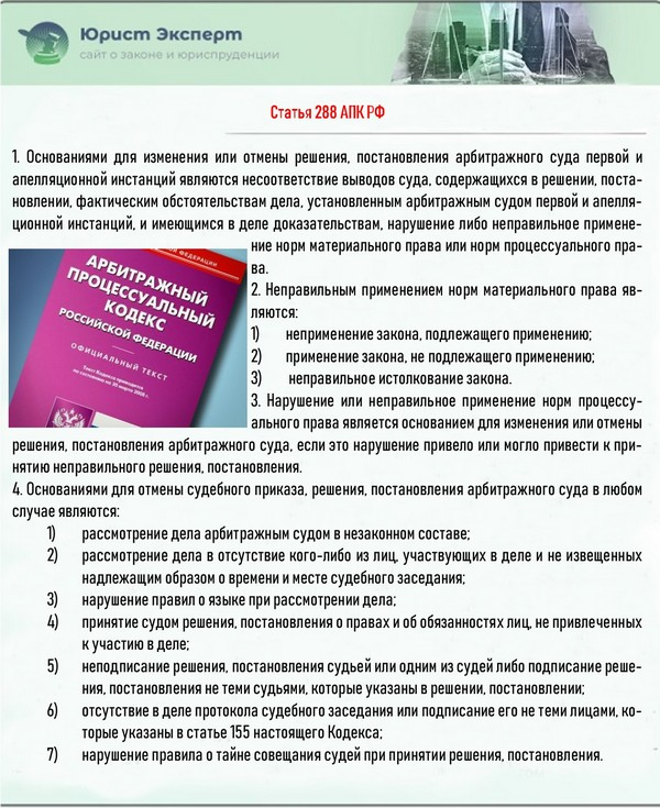 Статья 288 АПК РФ