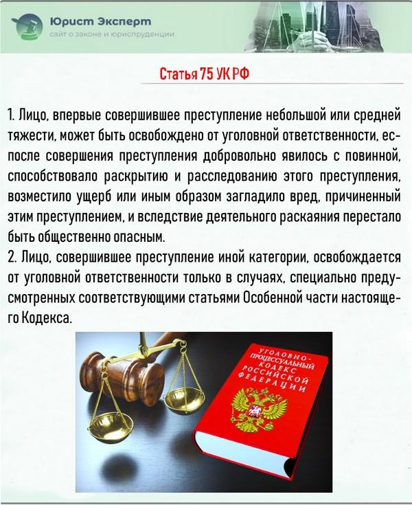 Статья 75 УК РФ