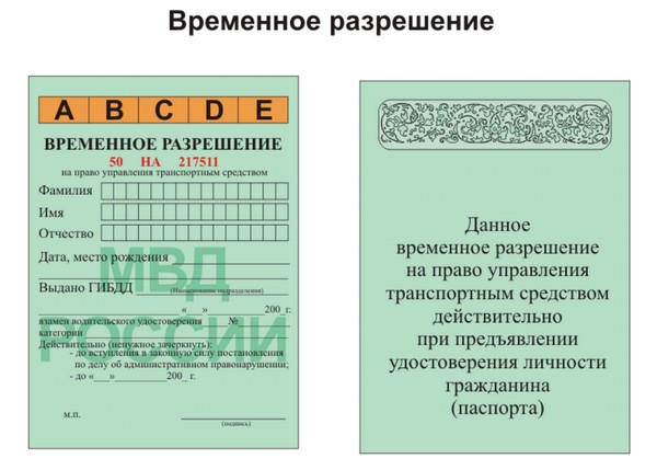В разрешении указываются определенные данные