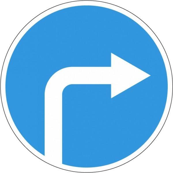 Знак – 4.1.2 Движение направо