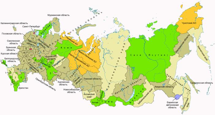 Некоторые регионы России по-прежнему рассчитывают налог на имущество по инвентаризационной стоимости