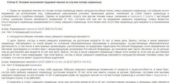 Выписка из статьи 9 ФЗ-173