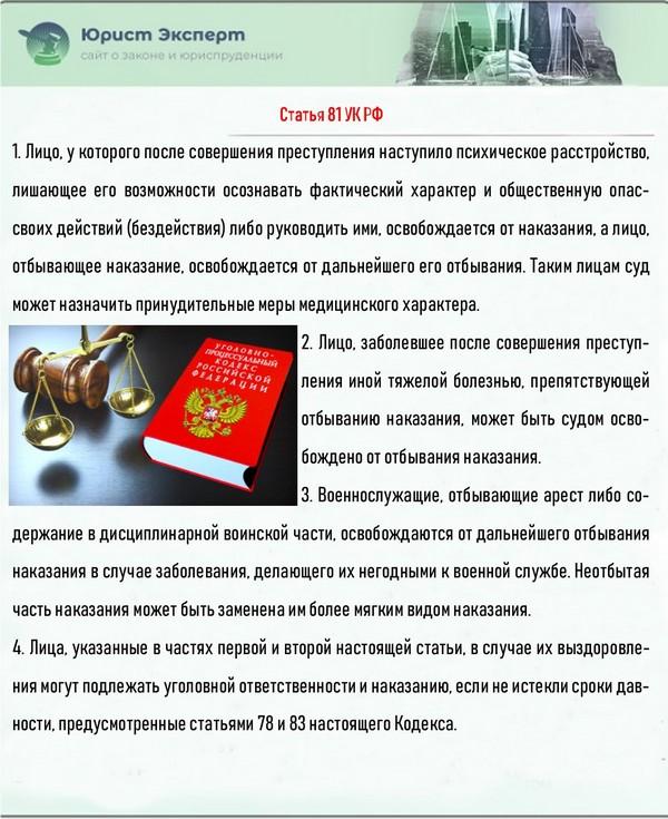 Статья 81 УК РФ