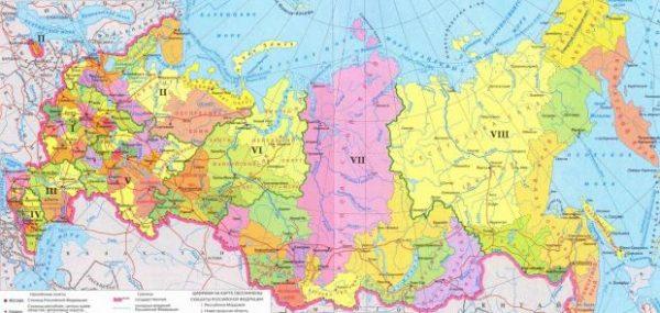 Карта России с регионами