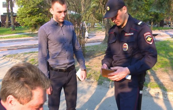 Задержание сотрудниками полиции